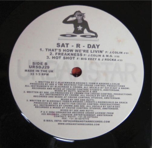 Sat-r-day - That's How We're Livin' / Don't Go