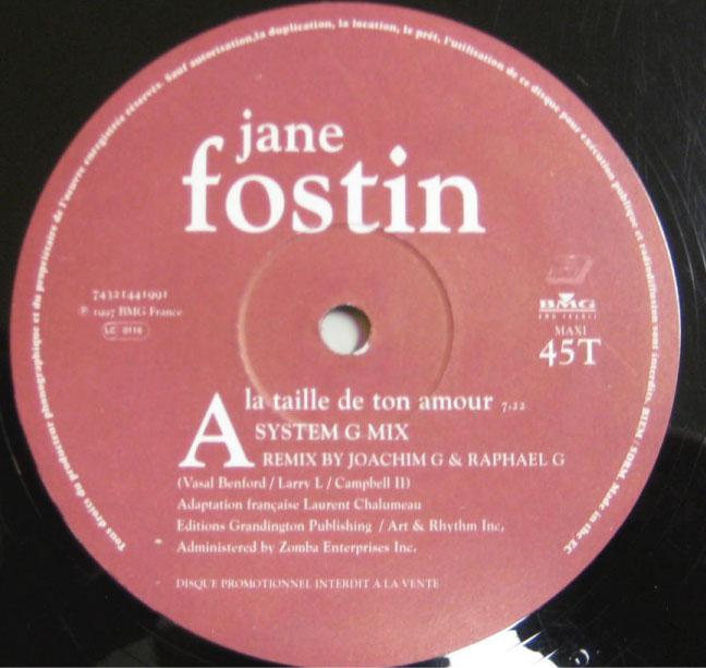 Jane Fostin - La Taille De Ton Amour
