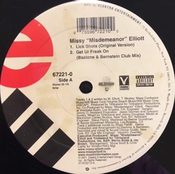 画像1: Missy Eliott / Lick Shots cw Get Your Freak On Remix (1)