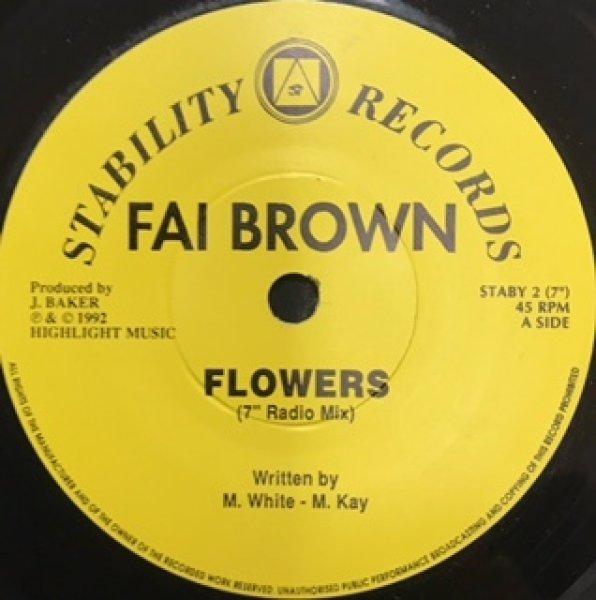画像1: Fai Brown /  Flowers  - 7 Inch -  (1)