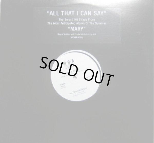 画像1: Mary J.Blige ft Lauryn Hill  / All That I Can Say - US Promo Only - (1)